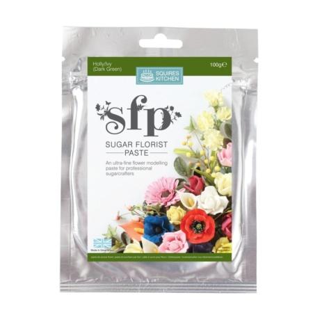 Masa cukrowa do kwiatów Squires Kitchen - Ciemnozielony (100g)