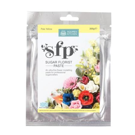 Masa cukrowa do kwiatów Squires Kitchen - Jasnożółty (200g)