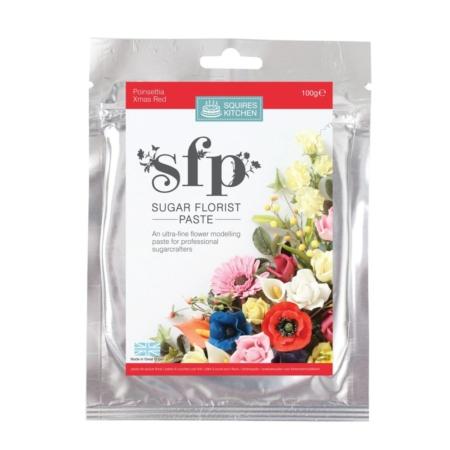 Masa cukrowa do kwiatów Squires Kitchen - Świąteczny Czerwony (100g)