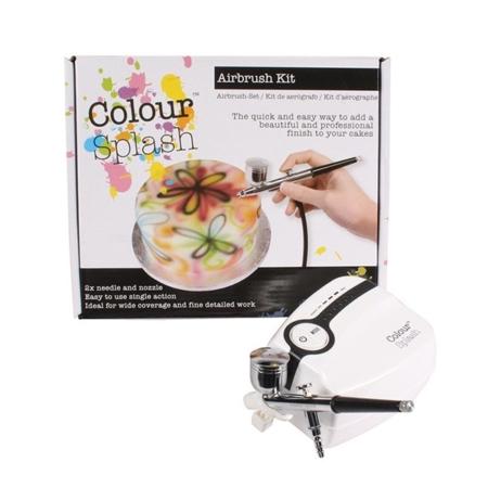 Zestaw do malowania barwnikami spożywczymi Aerograf Colour Splash