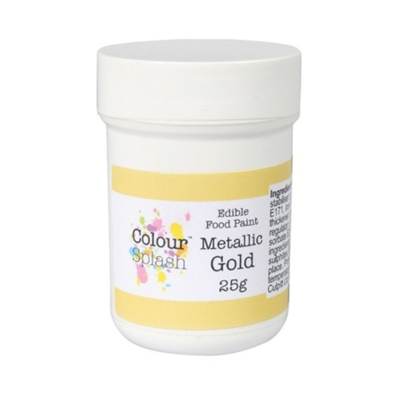 Barwnik w żelu Colour Splash Metallic - Złoty (25g)