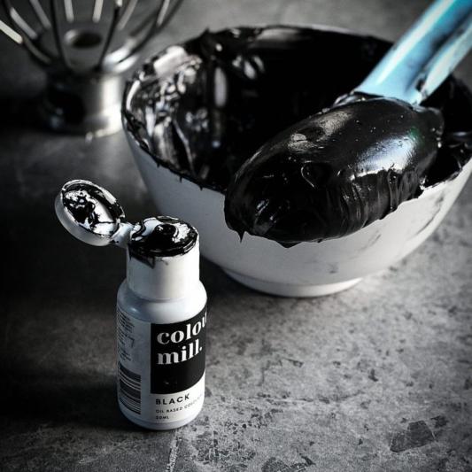 Jadalny barwnik olejowy Colour Mill - Black 20 ml