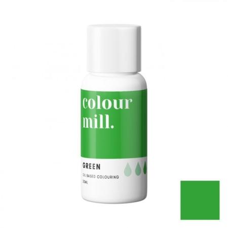 Jadalny barwnik olejowy Colour Mill - Green 20 ml