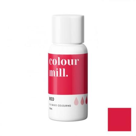 Jadalny barwnik olejowy Colour Mill - Red 20 ml