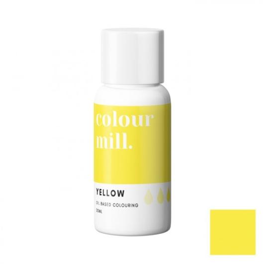 Jadalny barwnik olejowy Colour Mill - Yellow 20 ml