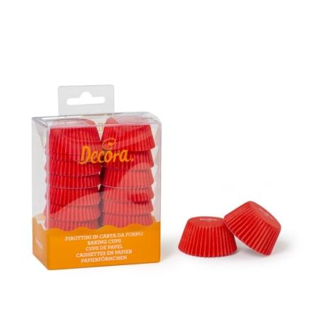 Mini Papilotki Czerwone 32 x 22 mm - 200 szt. - Decora