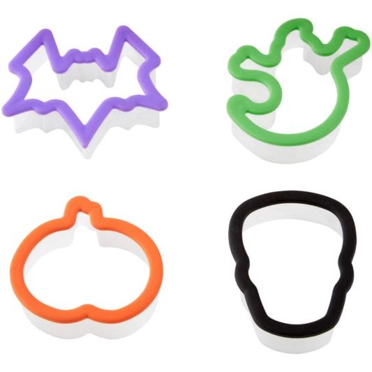Foremki, wykrawaczki do ciastek i masy cukrowej Halloween Grippy - zestaw 6 szt. - Decora (kot, nietoperz, duch i dynia)