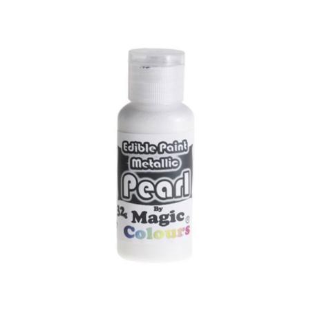 Płynna Farbka jadalna, spożywcza Magic Colours Metallic Pearl, Perłowa (32g)