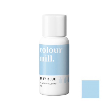 Jadalny barwnik olejowy do mas tłustych Colour Mill - Baby Blue, Jasny Niebieski 20 ml