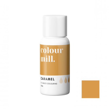 Jadalny barwnik olejowy do mas tłustych Colour Mill - Caramel, Karmelowy 20 ml