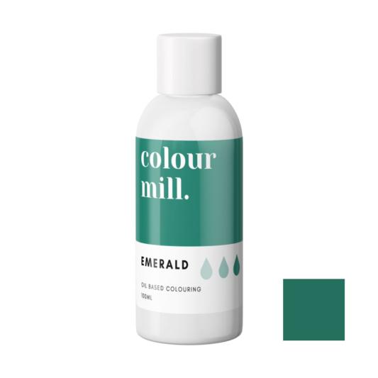 Jadalny barwnik olejowy do mas tłustych Colour Mill - Emerald, Butelkowa Zieleń 100 ml