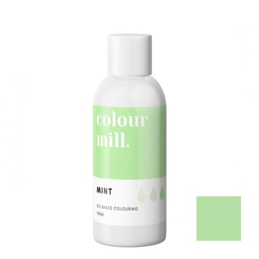 Jadalny barwnik olejowy do mas tłustych Colour Mill - Mint, Miętowy 100 ml