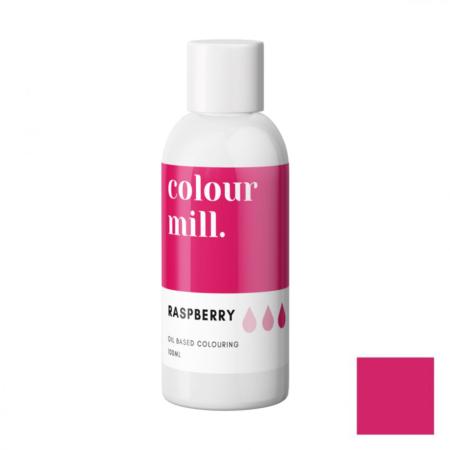 Jadalny barwnik olejowy do mas tłustych Colour Mill - Raspberry, Ciemny Różowy 100 ml