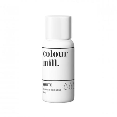 Jadalny barwnik olejowy do mas tłustych Colour Mill - White, Biały 20 ml