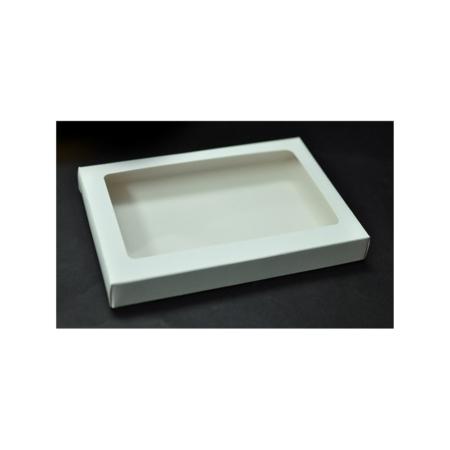 Pudełko na pierniczki z okienkiem - Białe - 15x21x2 cm