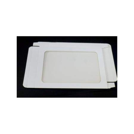 Pudełko na pierniczki z okienkiem - Białe - 25x17x2 cm
