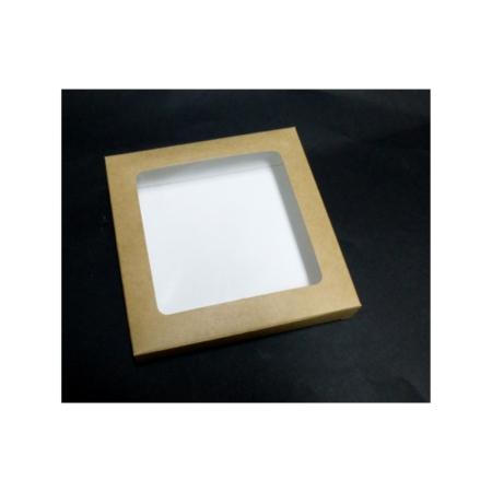 Pudełko na pierniczki z okienkiem - EKO - 15x15x2 cm
