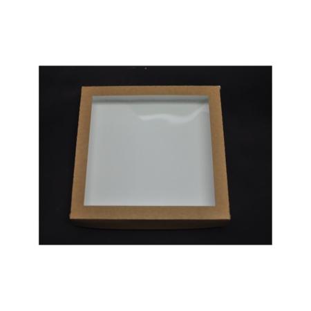 Pudełko na pierniczki z okienkiem - EKO - 25x25x4 cm
