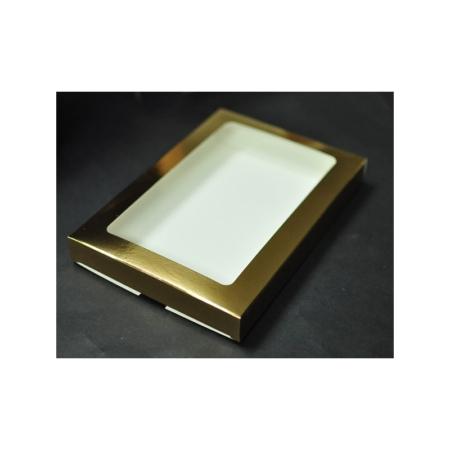 Pudełko na pierniczki z okienkiem - Złote - 15x21x2 cm