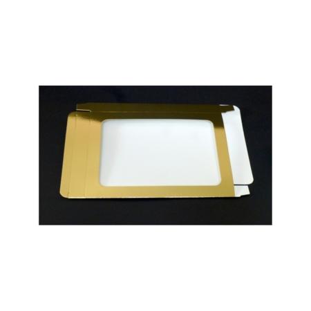 Pudełko na pierniczki z okienkiem - Złote - 25x17x2 cm
