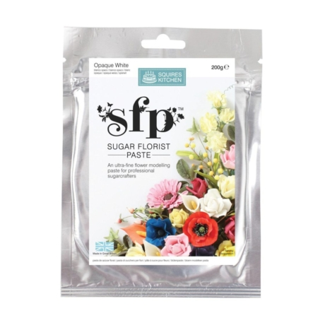 Masa cukrowa do kwiatów Squires Kitchen - Bardzo Biała (200g)