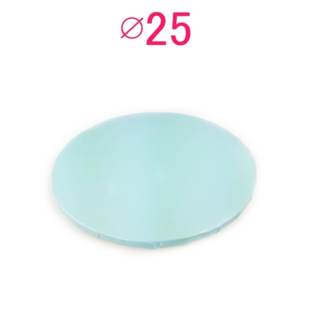 Gruby, sztywny podkład pod tort, ciasto okrągły - Blady Niebieski, Bardzo Jasny Niebieski, Baby Blue - średnica: 25 cm, grubość: 1 cm - Podkłady Cukiernicze Julita