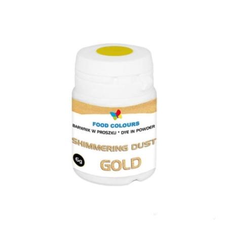 Barwnik brokatowy w proszku do ręcznego dekorowania Shimmering Gold - Stare 6 g