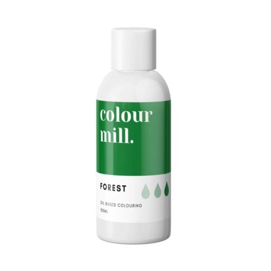 Jadalny barwnik olejowy do mas tłustych Colour Mill - Forest 100 ml