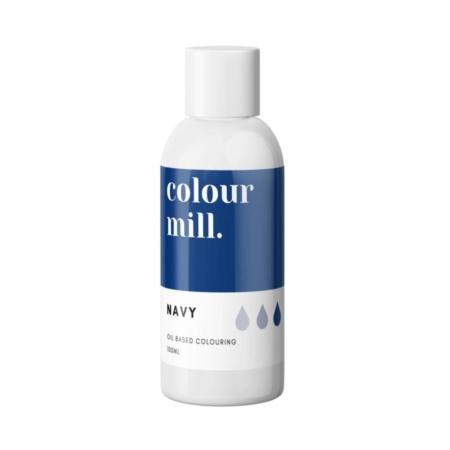 Jadalny barwnik olejowy do mas tłustych Colour Mill - Navy 100 ml