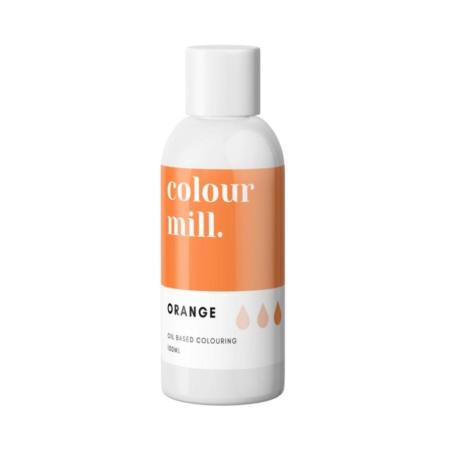 Jadalny barwnik olejowy do mas tłustych Colour Mill - Orange 100 ml