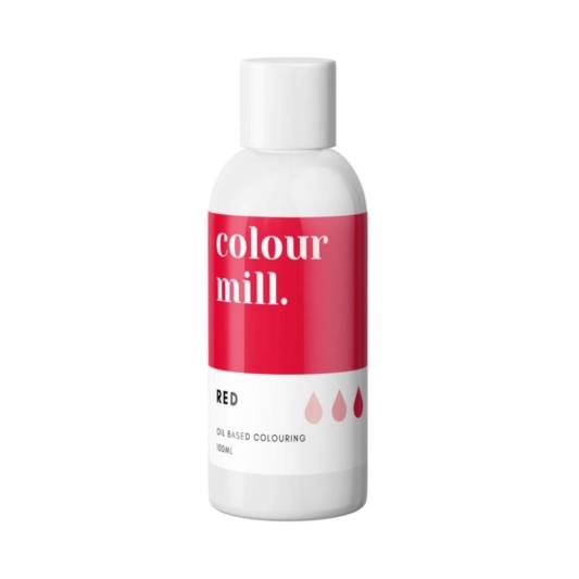 Jadalny barwnik olejowy do mas tłustych Colour Mill - Red 100 ml