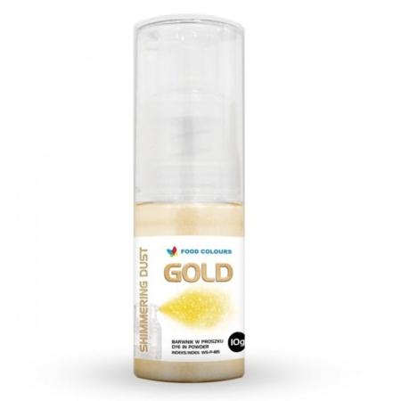 Barwnik w proszku z pompką - Złoty 10 ml