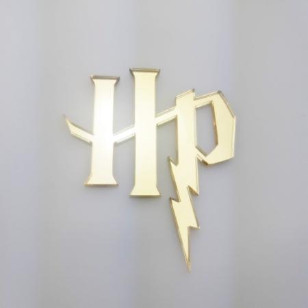 Dekor na tort Harry Potter 8 x 6,8 cm - Złoty Lustro - Miniowe Formy