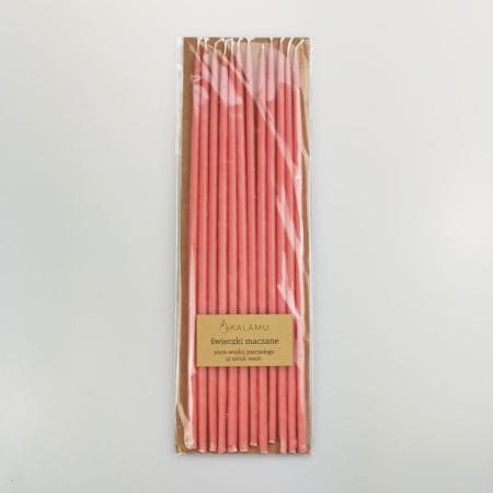 Naturalne Ekologiczne Świeczki z wosku pszczelego – Różowe Walentynki Maxi – 12 szt. - Kalamu