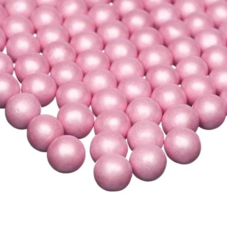 Cukrowa Posypka Perły Różowe Perłowe M - 75 g