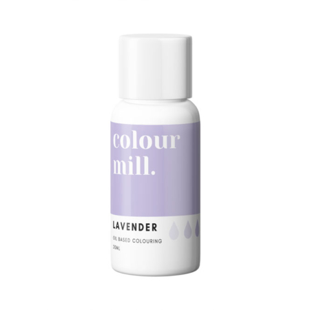 Jadalny barwnik olejowy do mas tłustych Colour Mill - Lavender , Lawendowy 20 ml
