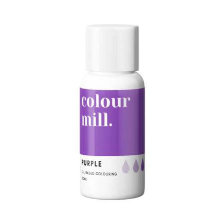 Jadalny barwnik olejowy do mas tłustych Colour Mill - Purple, Fioletowy 20 ml