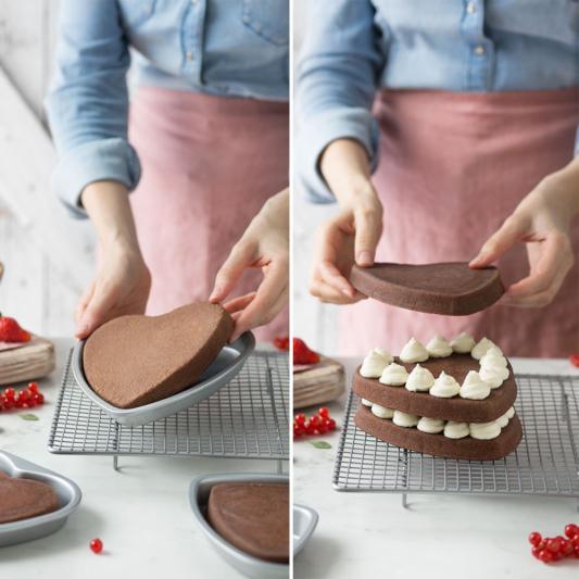 Zestaw form do pieczenia ciast wielowarstwowych Serce - Decora