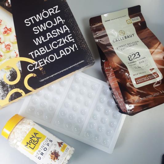 DIY BOX - Zestaw do samodzielnego stworzenia tabliczek czekolady Barry Callebaut z posypką w środku