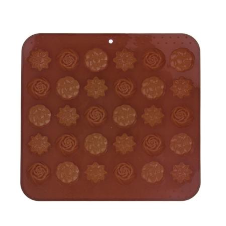 Silikonowa Forma Czekoladki Kwiaty 21 x 20,5 cm - Orion