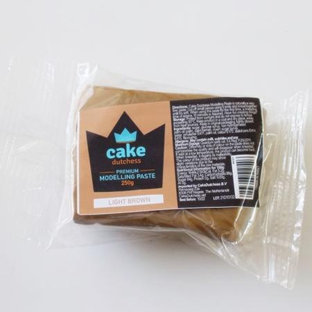 Masa cukrowa do modelowania Cake Dutchess - Jasnobrązowa 250g