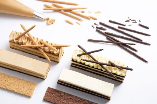 Cienkie ołówki z karmelowej czekolady Callebaut Gold - Mona Lisa – 0,4 kg - 200 szt. - ⌀5mm - długość 110 mm