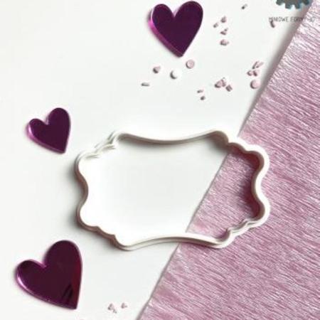 Wykrawaczka do stempli dekoracyjnych - ETYKIETA 30 - Miniowe Formy