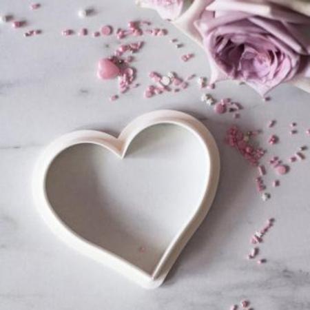 Wykrawaczka do stempli dekoracyjnych - Serce - Miniowe Formy