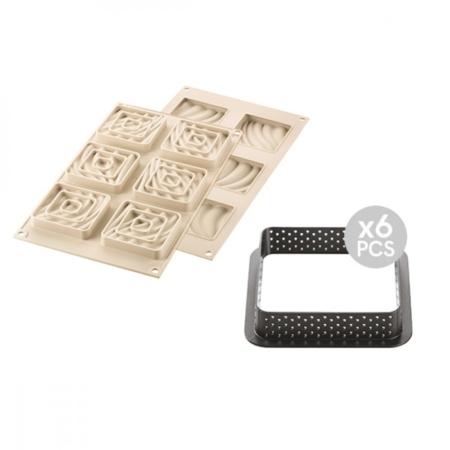 Forma silikonowa KIT MINI TARTE SAND + Ranty do tarty